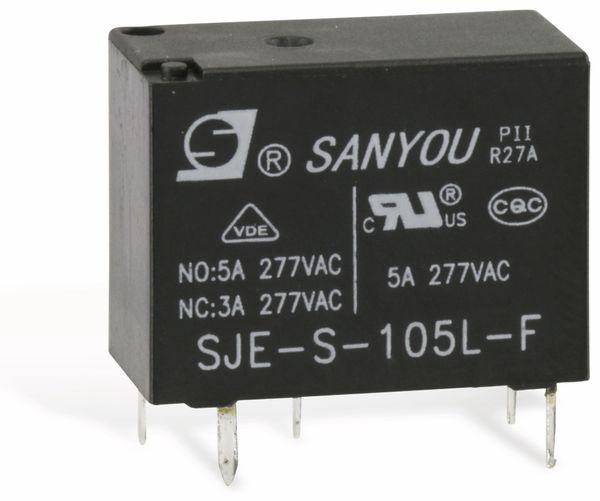 Relais SANYOU SJE-S-105L-F, 5 V-, 1 Wechsler