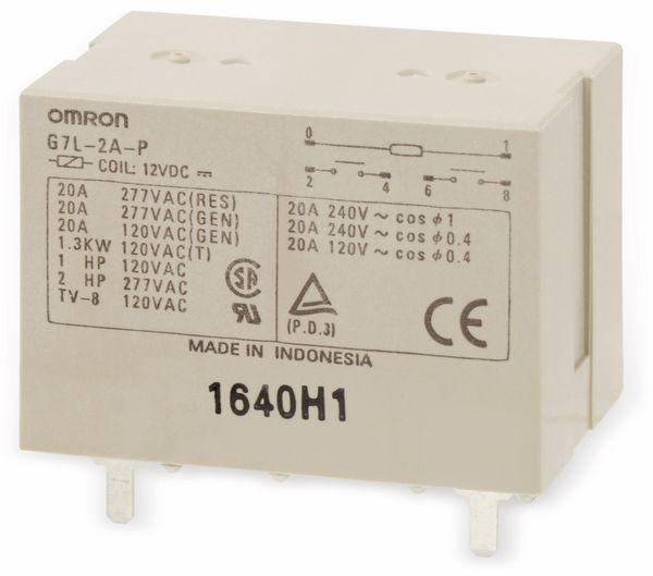 Leistungs-Relais OMRON G7L-2A-P, 12 V-, 2 Schließer, 20 A/240 V~ - Produktbild 1
