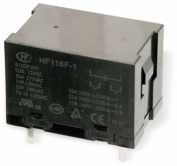 Leistungs-Relais HONGFA HF116F-1, 12V-, 2 Schließer, 20 A/240 V~ - Produktbild 1