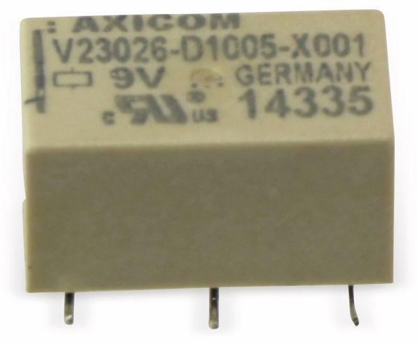Miniatur Signal-Relais AXICOM V23026-D1005-X001, 9 V-, 1 Wechsler - Produktbild 1