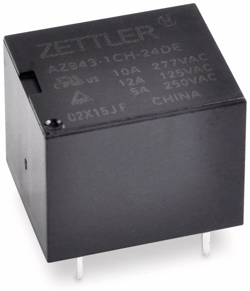 Relais ZETTLER AZ943-1CH-12DE, print, 12 V-, 10 A, 1xUM