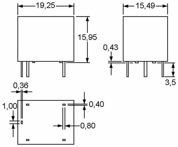 Relais ZETTLER AZ943-1CH-24DE, print, 24 V-, 10 A, 1xUM - Produktbild 3