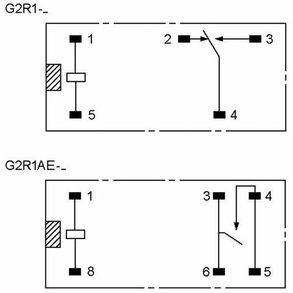Relais OMRON G2R1E-12, print, 1xUM, 12 V-, 16 A - Produktbild 2