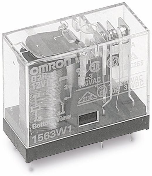 Relais OMRON G2R1E-24, print, 1xUM, 24 V-, 16 A