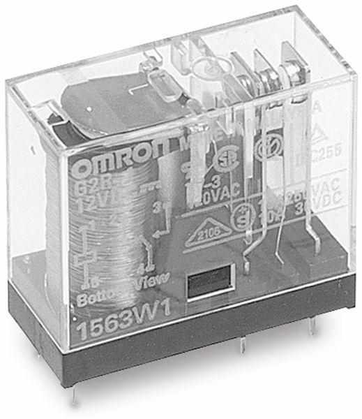 Relais OMRON G2R2E-12, print, 2xUM, 12 V-, 5 A