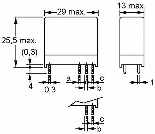Relais OMRON G2R2E-12, print, 2xUM, 12 V-, 5 A - Produktbild 4