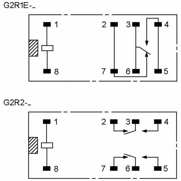 Relais OMRON G2R2E-24, print, 2xUM, 24 V-, 5 A - Produktbild 3