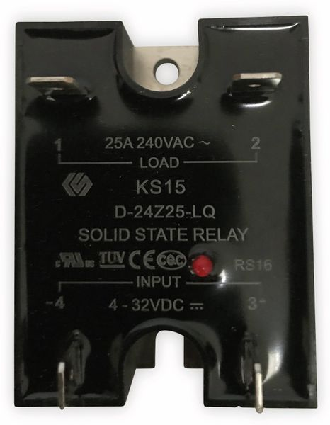 Solid State Relais K15/D-24Z2-LQ, 4...32 V-, 25 A/240 V~