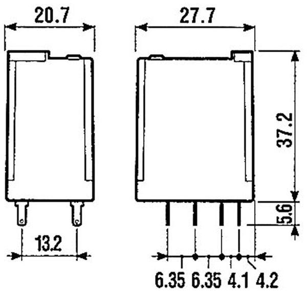 Relais Finder F 55.32, 230V~, 2xUM, 10A - Produktbild 3