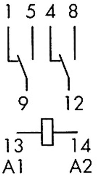 Relais Finder F 55.32, 24 V-, 2xUM, 10 A - Produktbild 2