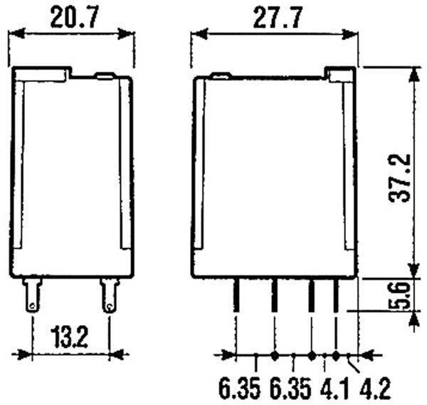 Relais Finder F 55.32, 24 V-, 2xUM, 10 A - Produktbild 3