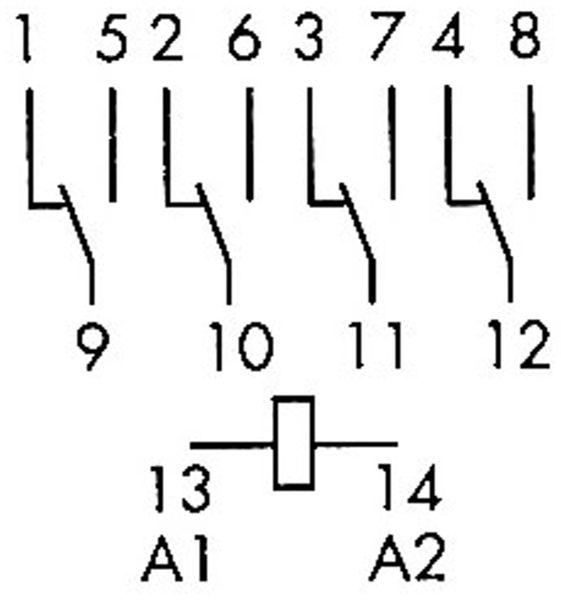 Relais Finder F 55.34, 24 V~, 4xUM, 7 A, 55.34.8.024.0040 - Produktbild 2