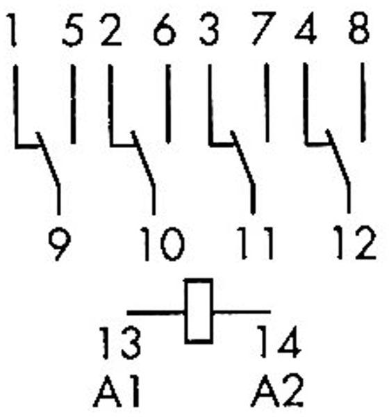Relais Finder F 55.34, 230 V~, 4xUM, 7 A - Produktbild 2