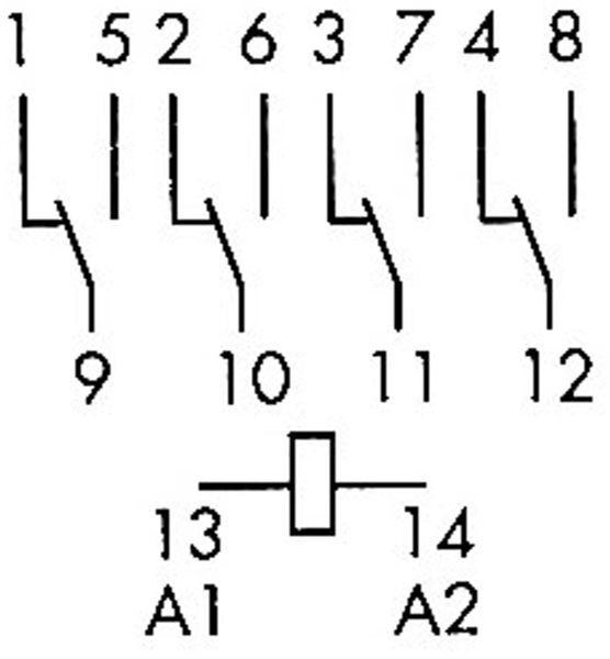 Relais Finder F 55.34, 230 V~, 4xUM, 7 A, hartvergoldet - Produktbild 2