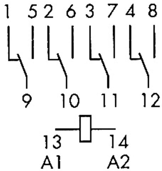 Relais Finder F 55.34, 24 V-, 4xUM, 7 A - Produktbild 2