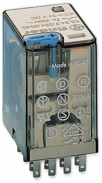 Relais Finder F 55.34, 24 V-, 4xUM, 7 A, LED-Anzeige, Freilaufdiode