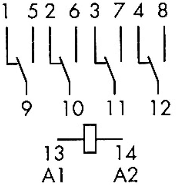 Relais Finder F 55.34, 24 V-, 4xUM, 7 A, hartvergoldet - Produktbild 2