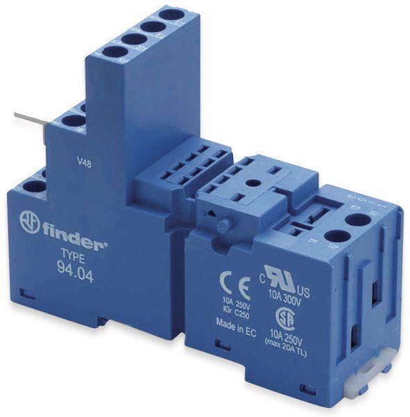Relaisfassung FINDER für Relais der Serie F55.32, F55.34, blau