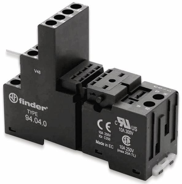 Relaisfassung FINDER für Relais der Serie F55.32, F55.34, schwarz