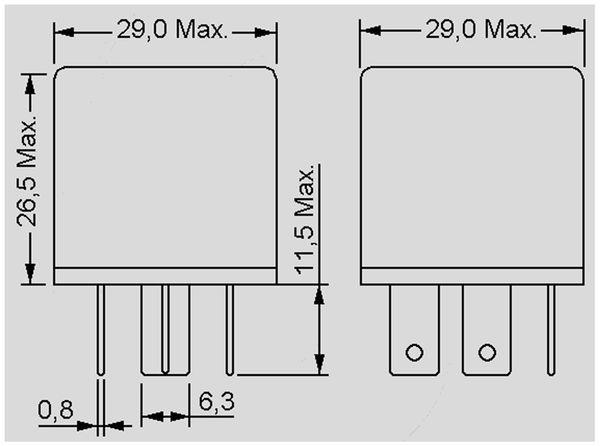 KFZ Relais 12 V-, 50 A, 1x UM, Steckanschluß - Produktbild 2
