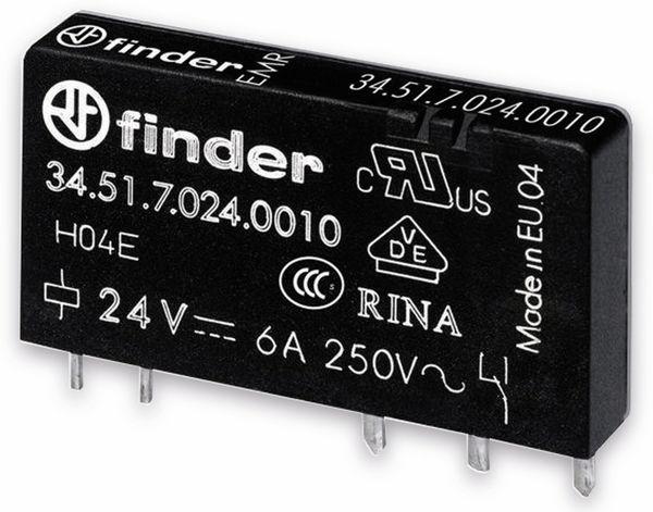 FINDER Relais 34.51, 5 V-, 1xUM, 6 A