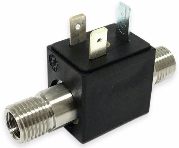 2/2-Wege Magnetventil mit koaxialer Durchströmung BMV60404M, Edelstahl, FKM, 12V-