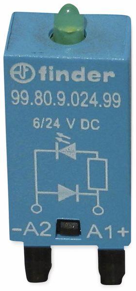 Steckmodul / Freilaufdiode, Finder, 99.80.9.024.99, für Serie 94, 95