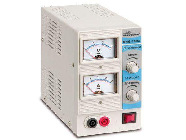 Regelbares Netzgerät RNG-1502, 0...15 V-/0...2 A - Produktbild 1