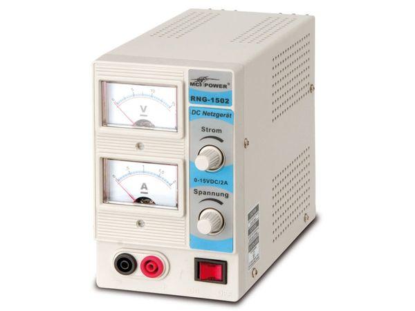 Regelbares Netzgerät RNG-1502, 0...15 V-/0...2 A - Produktbild 2