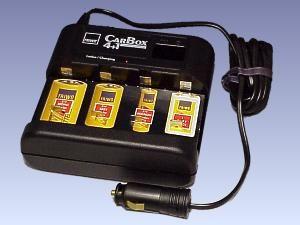 "12 V-Mobil-Ladegerät ""Car Box 4+1"""