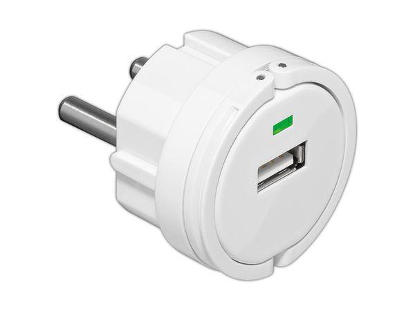 USB Steckdosen-Ladeadapter GOOBAY - Produktbild 1