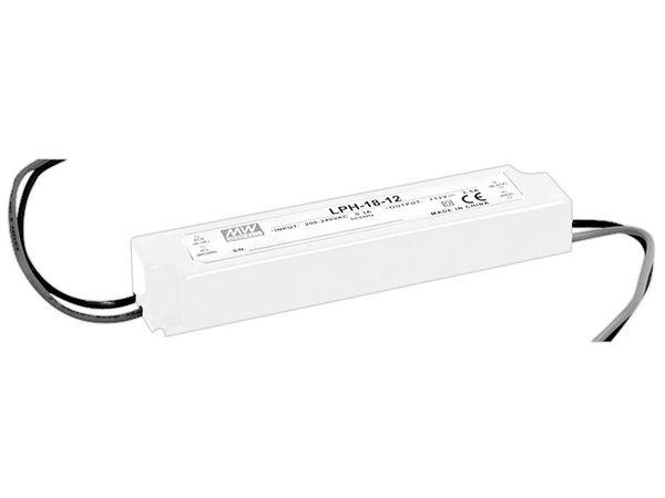 LED-Schaltnetzteil MEANWELL LPH-18-12, 12 V-/18 W