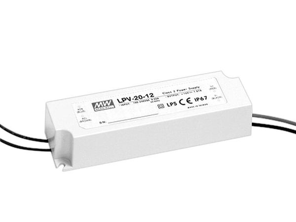 LED-Schaltnetzteil MEANWELL LPV-20-12, 12 V-/20 W