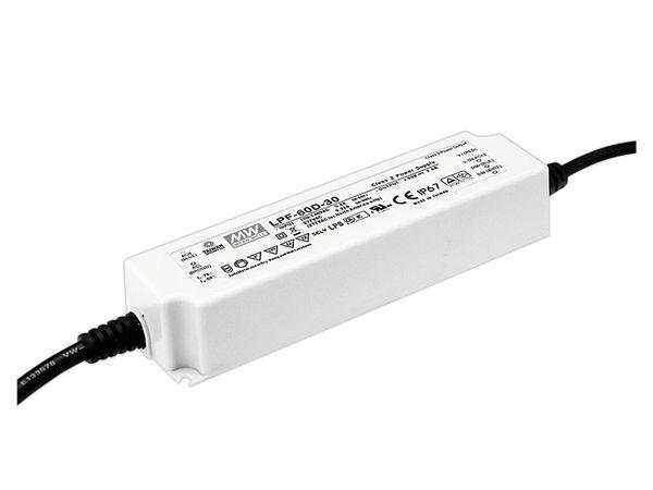 LED-Schaltnetzteil MEANWELL LPF-60-24, 24 V-/60 W