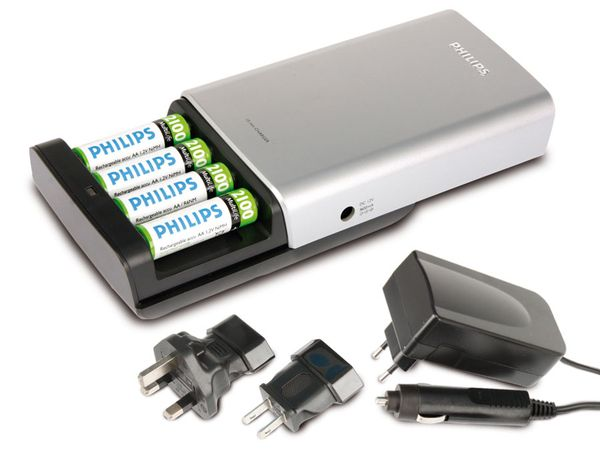 Schnell-Ladegerät PHILIPS MultiLife SCB7560CB - Produktbild 1
