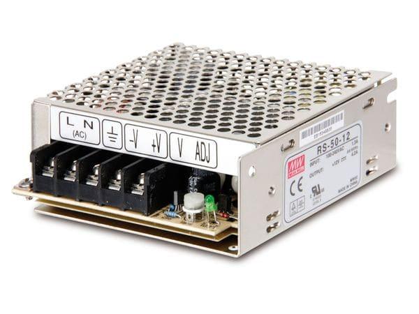Schaltnetzteil MEANWELL RS-50-12, 12 V-/4,2 A - Produktbild 1