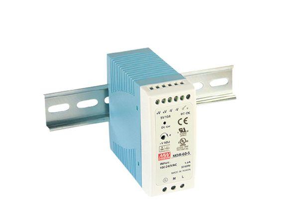 Hutschienen-Schaltnetzteil MEANWELL MDR-60-5, 5 V-/10 A
