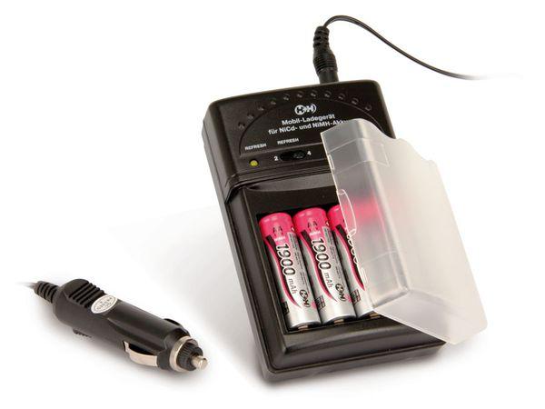 Universal-Ladegerät H+H BL506, mit 4 Mignon-Akkus - Produktbild 1