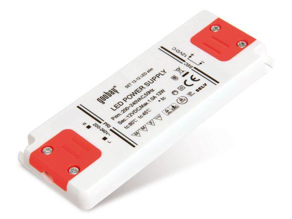 LED-Schaltnetzteil GOOBAY SET12-12LED slim, 12 V-, 12 W