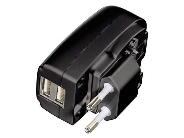 USB-Lader, 5 V-/2,1 A, 2-fach - Produktbild 1