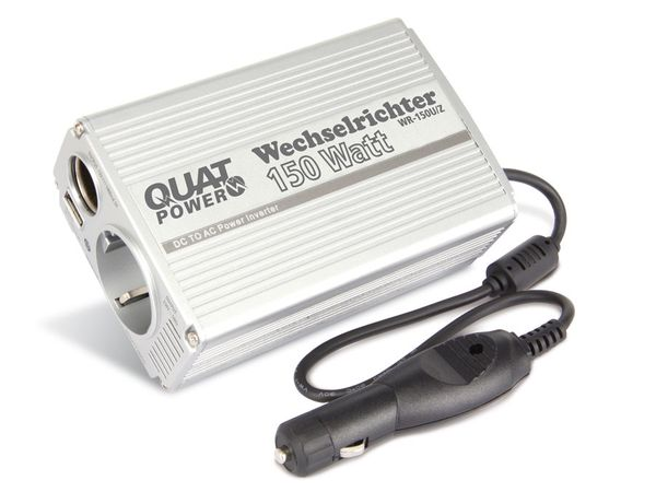 Wechselrichter mit USB-Ladebuchse QUATPOWER WR-150U/Z - Produktbild 1