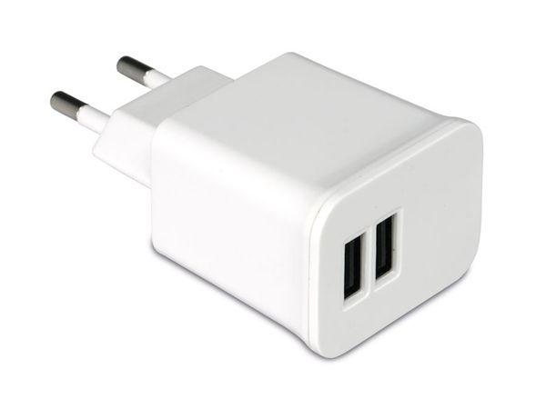 Dual USB-Ladeadapter QUATPOWER PUL5/2.1A-DW, weiß