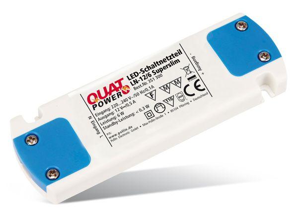 LED-Schaltnetzteil QUATPOWER LN-12/6 Superslim, 12 V-, 6 W - Produktbild 1