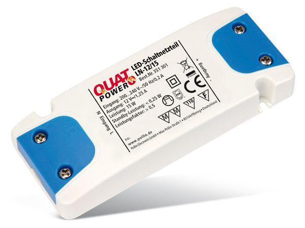 LED-Schaltnetzteil QUATPOWER LN-12/15, 12 V-, 15 W - Produktbild 1