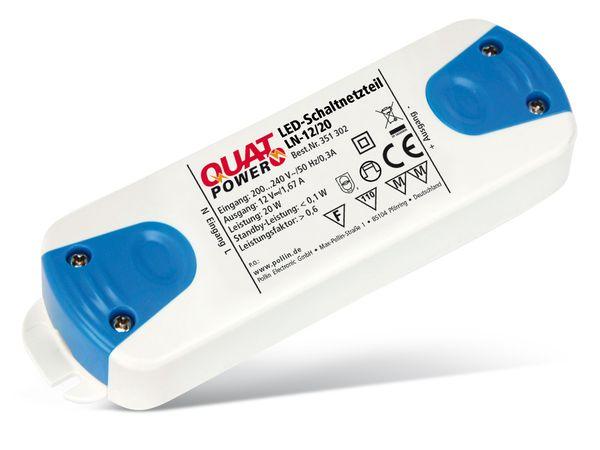 LED-Schaltnetzteil QUATPOWER LN-12/20, 12 V-, 20 W - Produktbild 1