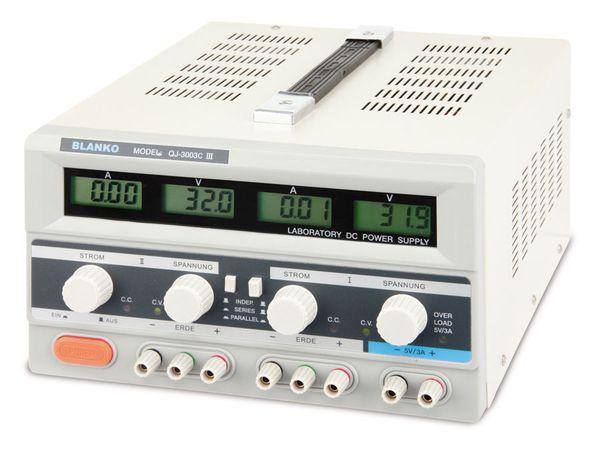 Labornetzgerät QJ-3003C III, 2x 0...30 V-/0...3A, 5 V-/3 A - Produktbild 1