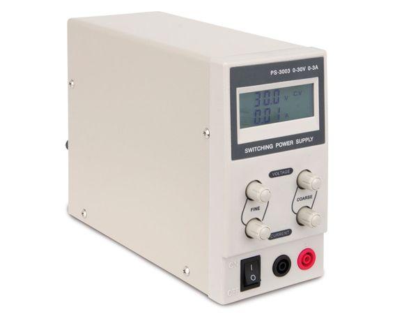 Regelbares Labornetzgerät PS-3003, 0...30 V-/0...3 A - Produktbild 1