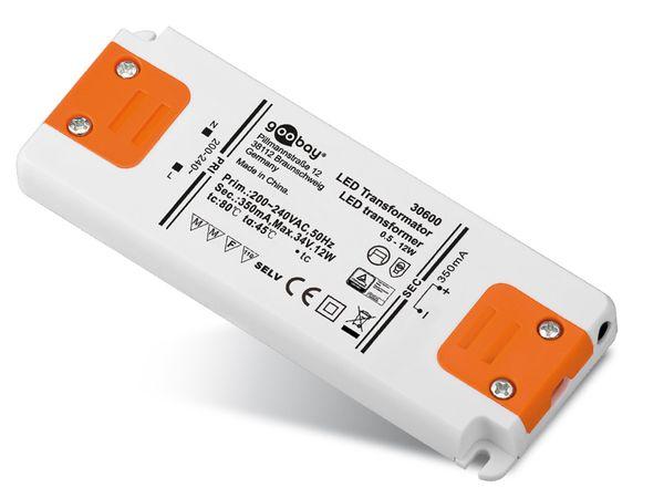 Konstantstrom LED-Treiber GOOBAY SETCC350-12LED, 350 mA, 12 W