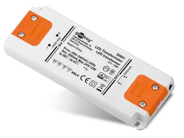 Konstantstrom LED-Treiber GOOBAY SETCC500-12LED, 500 mA, 12 W