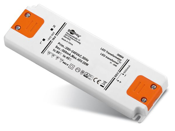 Konstantstrom LED-Treiber GOOBAY SETCC500-20LED, 500 mA, 20 W